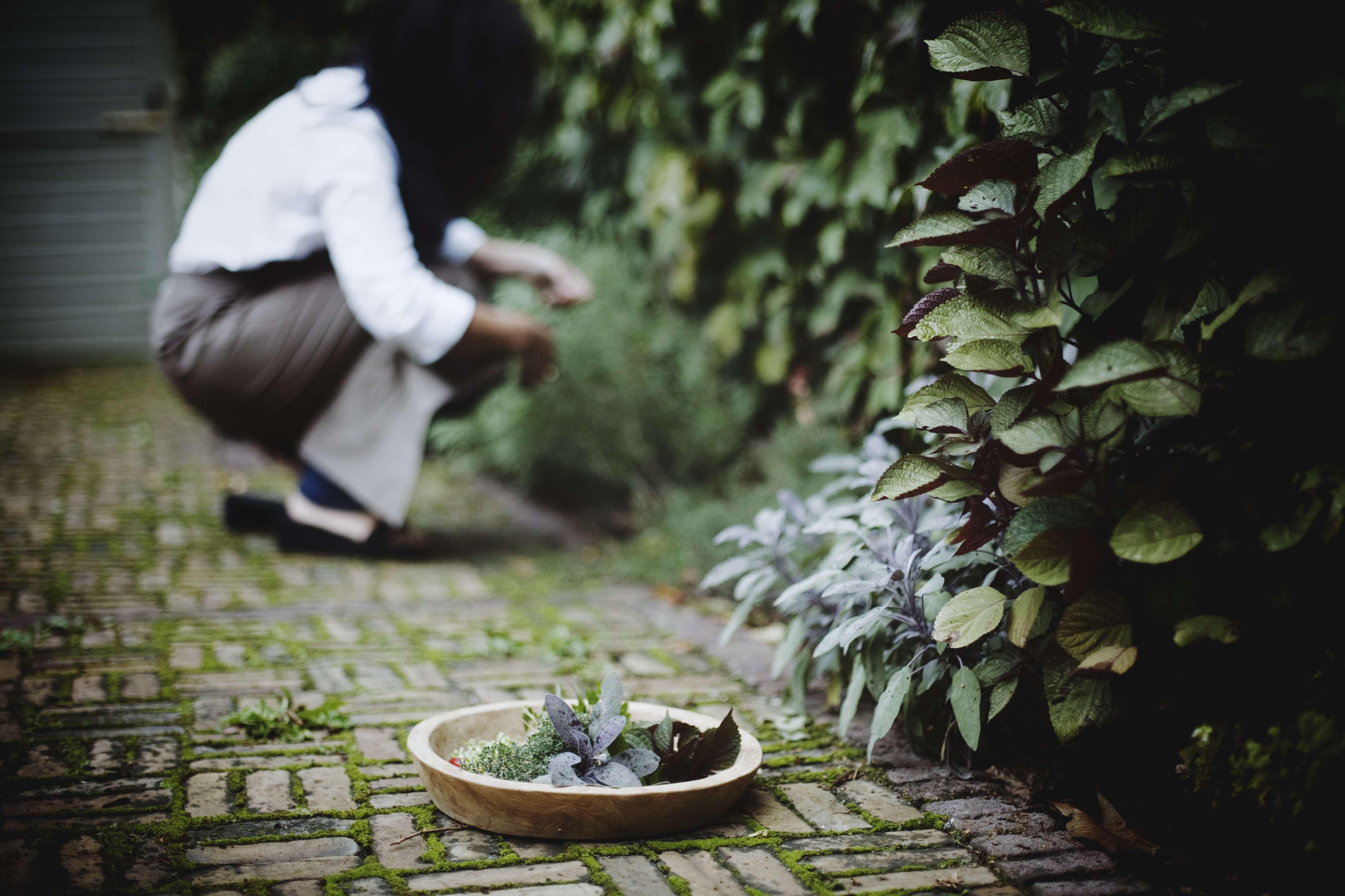 Chantal Voets in de tuin