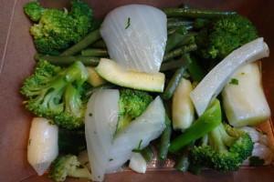 Detox groene groenten met broccoli, boontjes, venkel en prei