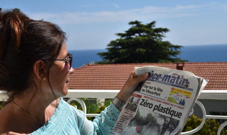 Chantal Voets in Nice, tegen plastic