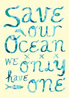 Save our Ocean, voorkom afval in onze zee en oceaan