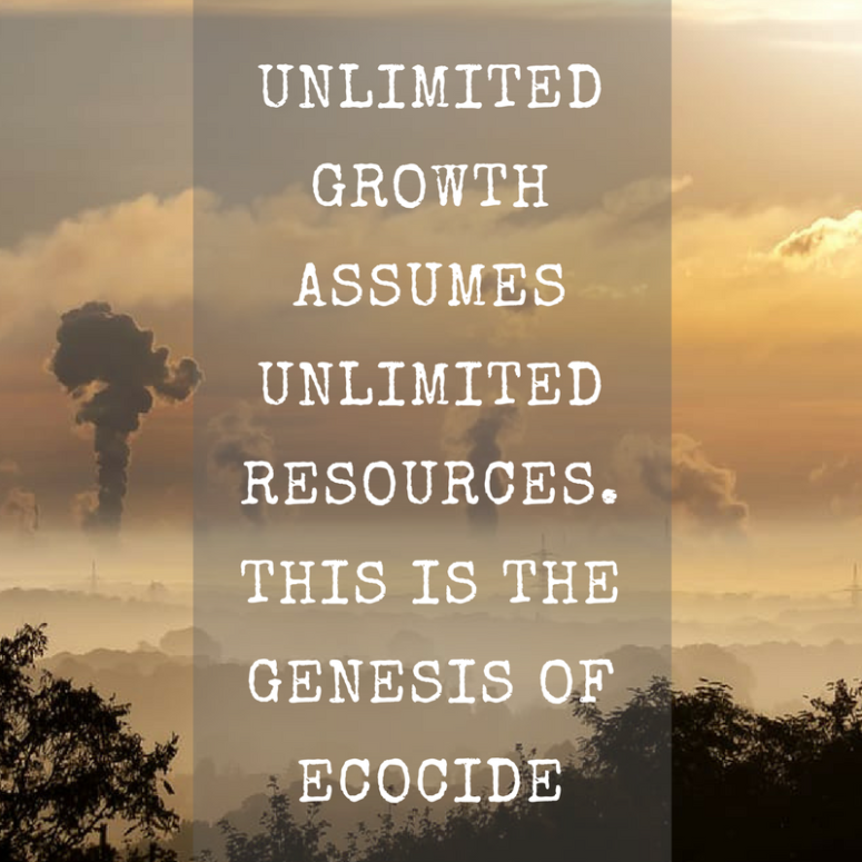 Quote over Ecocide, Polly Higgins