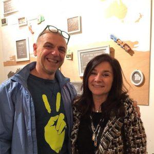 Alain Indria Lombardia op boekpresentatie Menopower met Chantal Voets