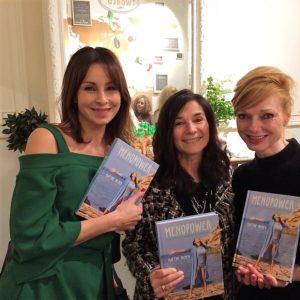 Bieke Ilegems, Chantal Voets en Marleen Mercxs op presentatie boek Menopower van Martine Prenen