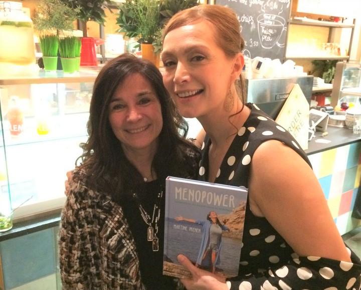 Martine Prenen en Chantal Voets bij presentatie boek Menopower Martine Prenen