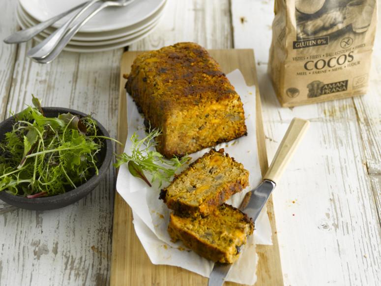 Vegetarisch gehaktbrood recept met seitan vleesvervanger