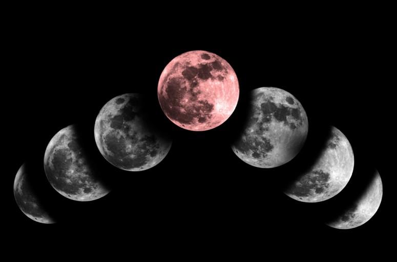Volle maan en de kracht en romantiek