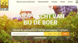 Ecologische website en biologisch lokaal eten Recht van bij de boer