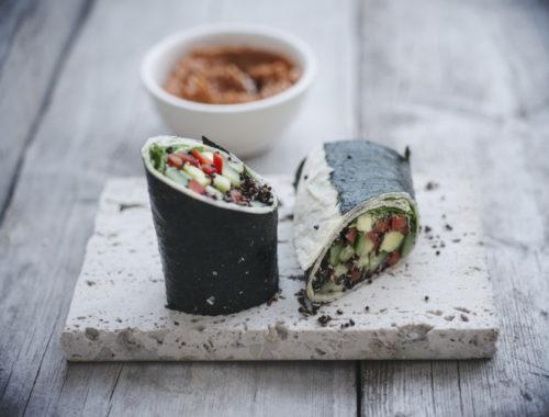 Wraps met zeewier: nora wraps recept