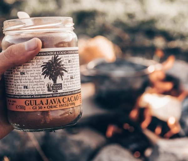 Gezonde warme chocolademelk maak je met de Gula Java Cacao van Amanprana