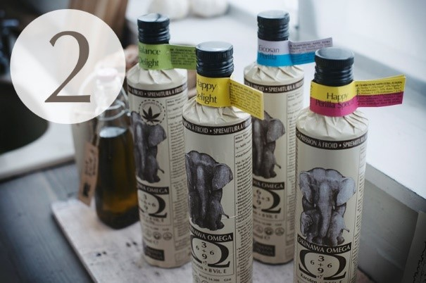 Amanprana labels are made from sugar cane fibers.