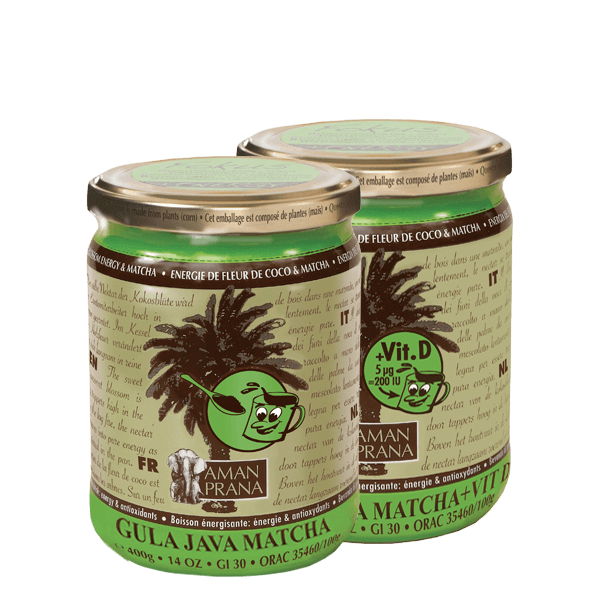 Amanprana Gula Java matcha (met vitamine D)